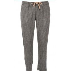 SSEINSE Pantalone Nero Bianco