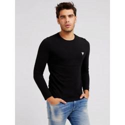 GUESS T-shirt girocollo Nero