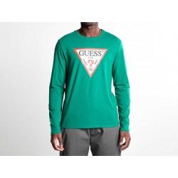 GUESS Maglia con logo Verde