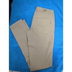 EXE Pantalone in cotone beige