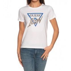 GUESS T-shirt girocollo bianco