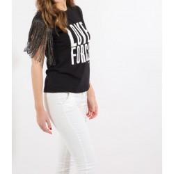 KOCCA T-shirt con frange nero